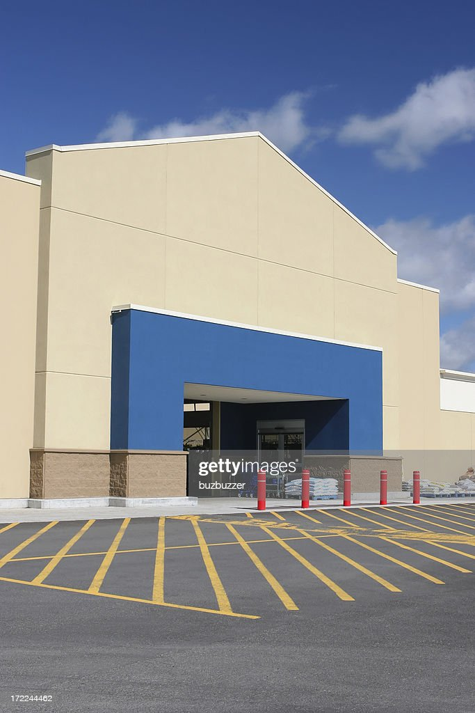 Modern Store Building Entrance : Stock Photo