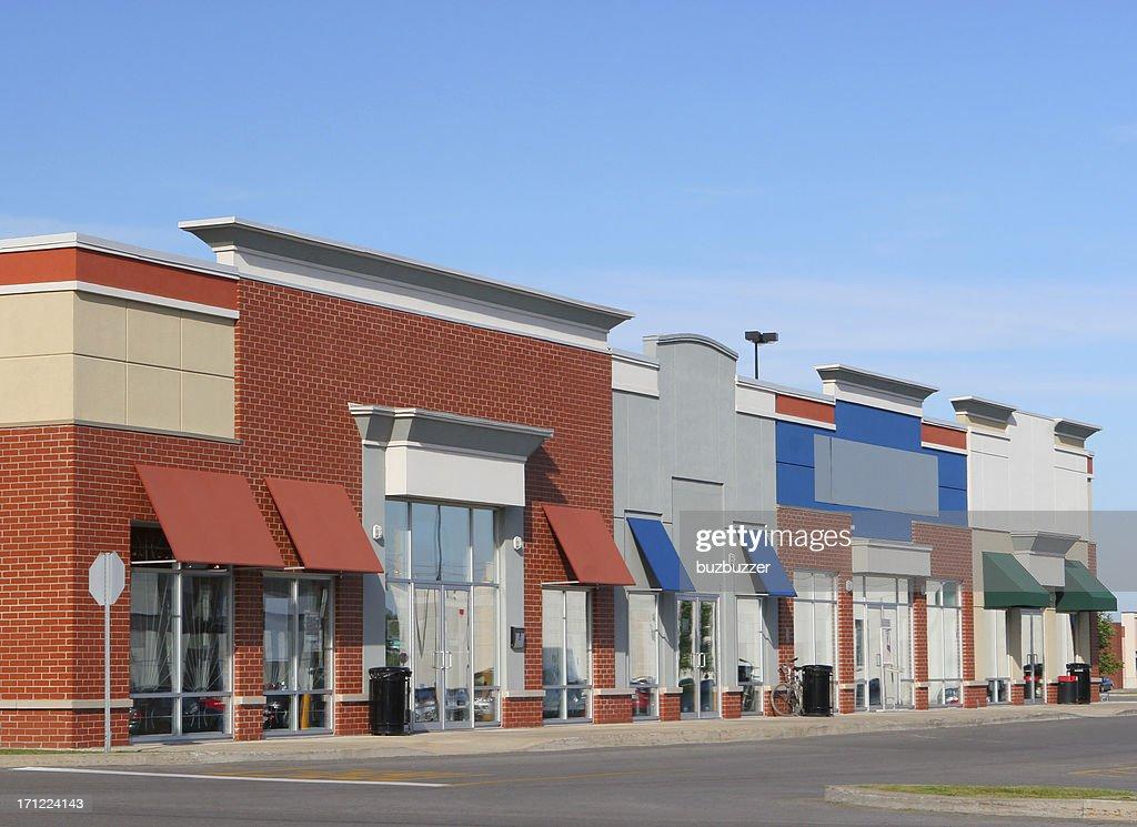 Modern Strip Mall Building Exteriors