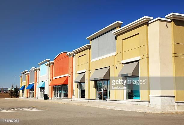 Modern Strip Mall Store Building