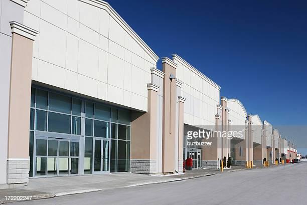 Modern Strip Mall Store Buildings