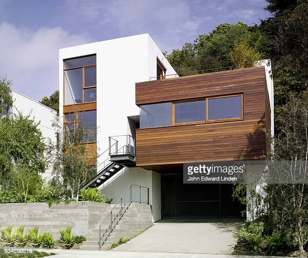 Modern Stucco and Wood Clad House