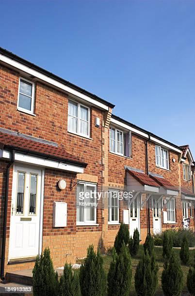 Modern suburban brick family houses