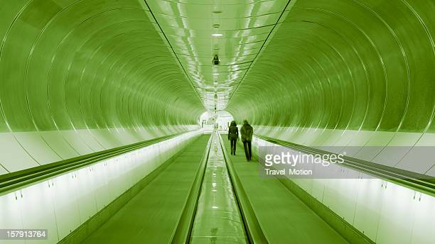 Modern subway station architecture, Rotterdam, The Netherlands