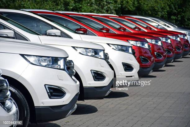 modern suv vehicles on the parking - ford motor company stock pictures, royalty-free photos & images