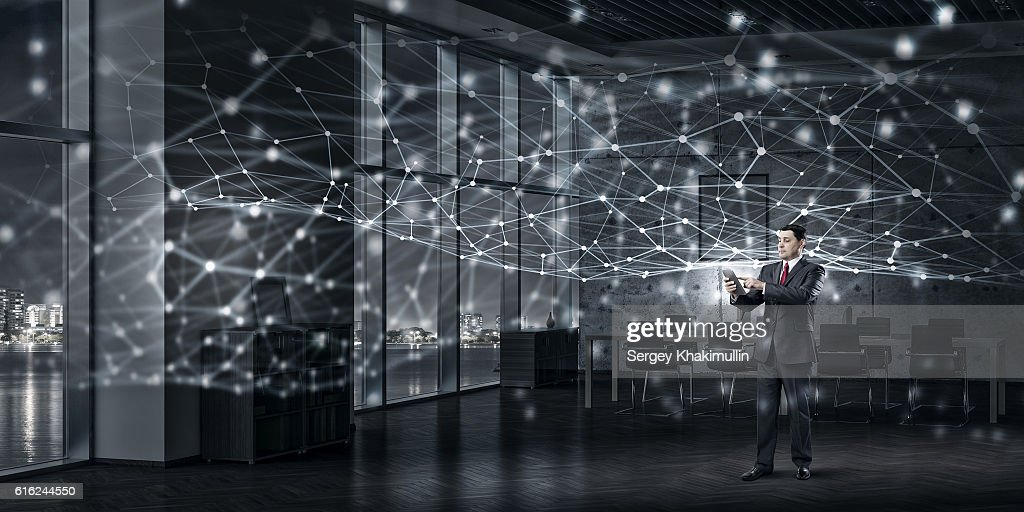 Modern technologies for business . Mixed media : Stock Photo