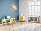 Modern Teen Bedroom in Space Style