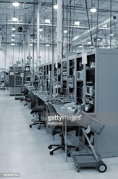 Modern Test Stations inside an Industrial Building