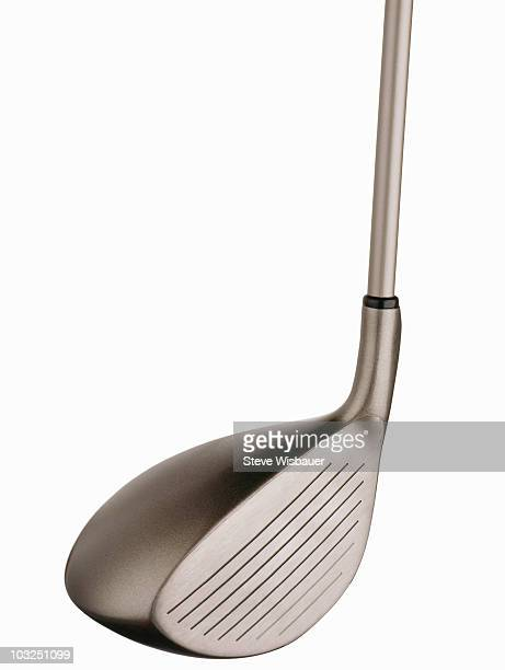 a modern titanium driver golf club head - golfschläger stock-fotos und bilder