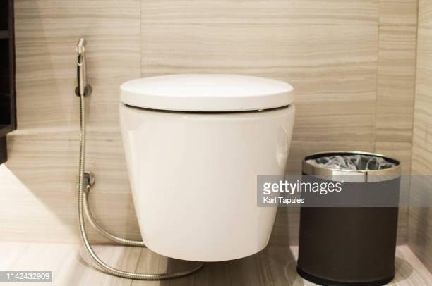 a modern toilet design - ビデ ストックフォトと画像