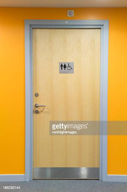 modern toilet door - public restroom stock pictures, royalty-free photos & images