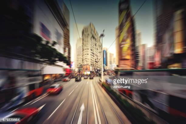 Modernen Verkehr an Hong Kong Central District