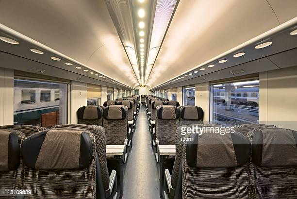 modern train interior - railroad car stock pictures, royalty-free photos & images