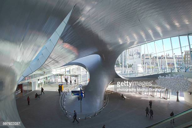 Modern train station architecture