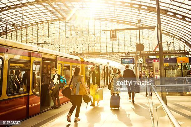 Moderne Bahnhof in Berlin.
