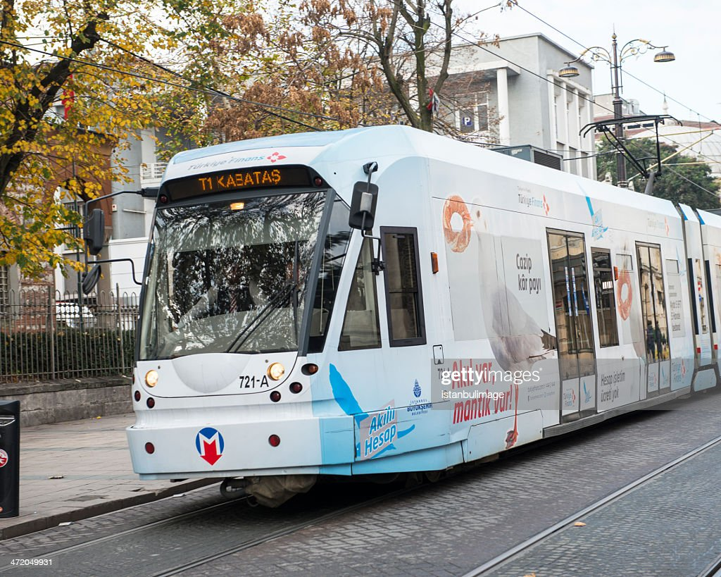 Modern Trams in Beyazit District : Stock Photo