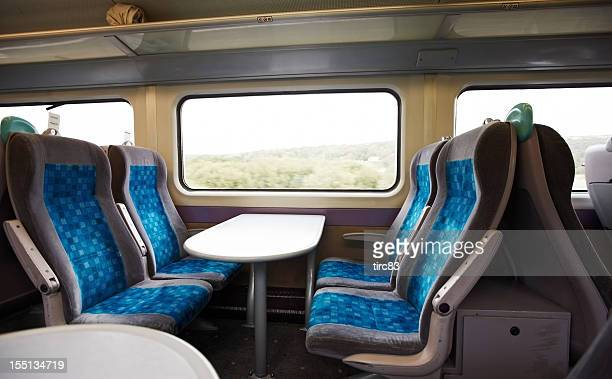 modern uk train compartment - railroad car stock pictures, royalty-free photos & images