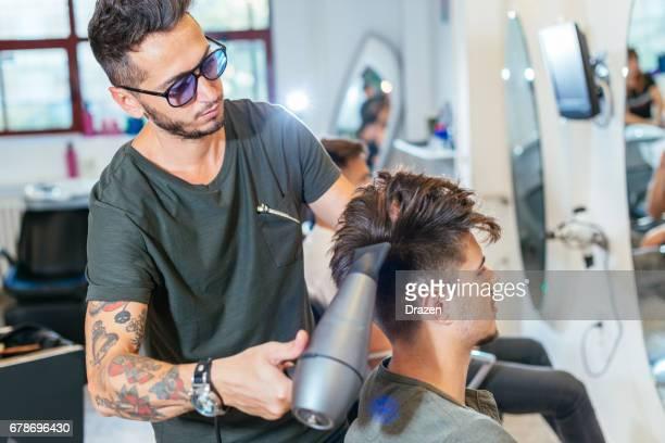 Modern undercut hairstyle