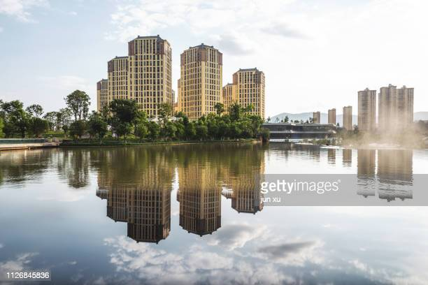 modern urban landscape - kunming stock pictures, royalty-free photos & images