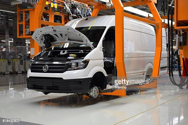 modern van in a car plant - volkswagen stock pictures, royalty-free photos & images