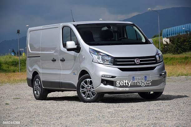 Modern van on the road