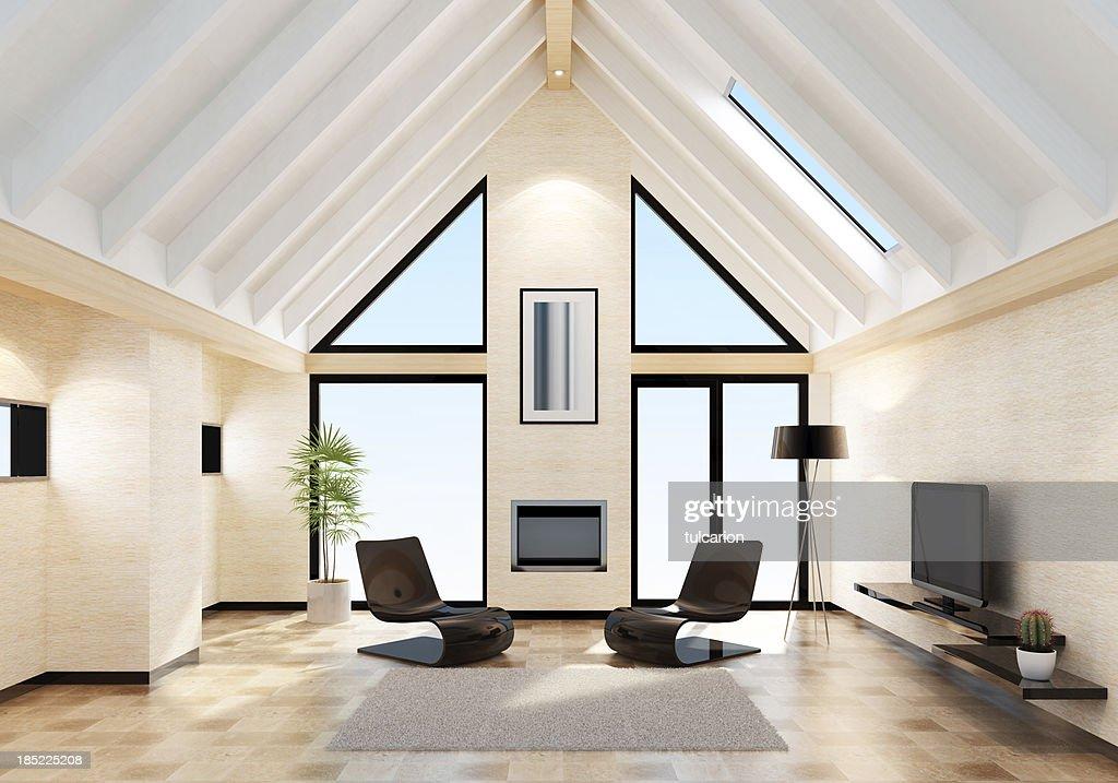 Moderne Villa Innenansicht Stock-Foto | Getty Images