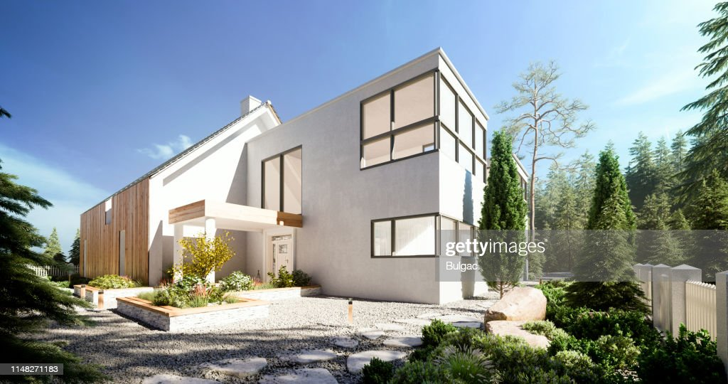 Modern Villa : Stock Photo
