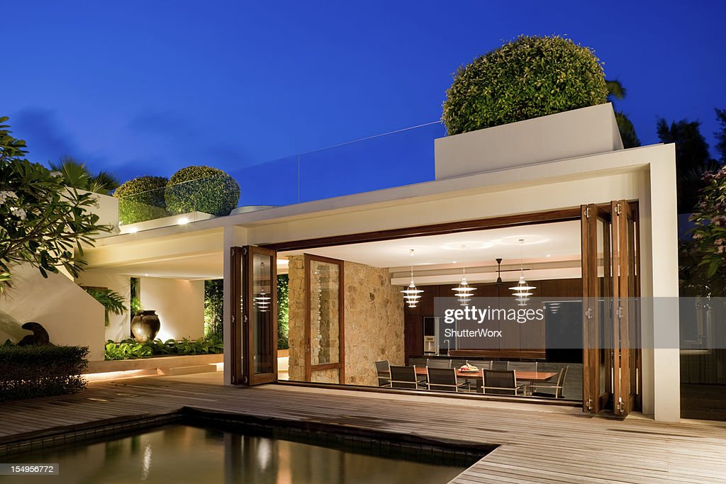 Modern Villa With A Pool : Stock Photo
