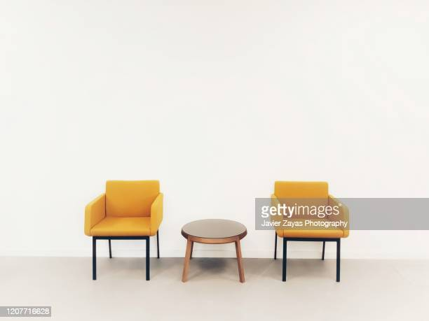 modern waiting room - symmetry stock pictures, royalty-free photos & images