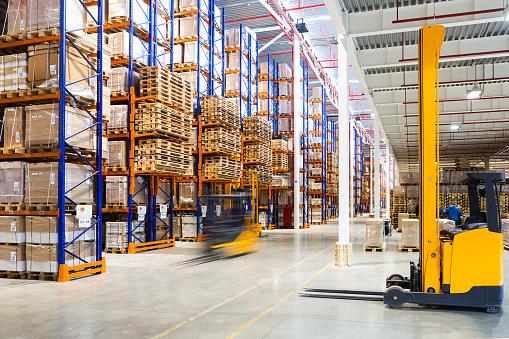 Modern warehouse interior 623362614