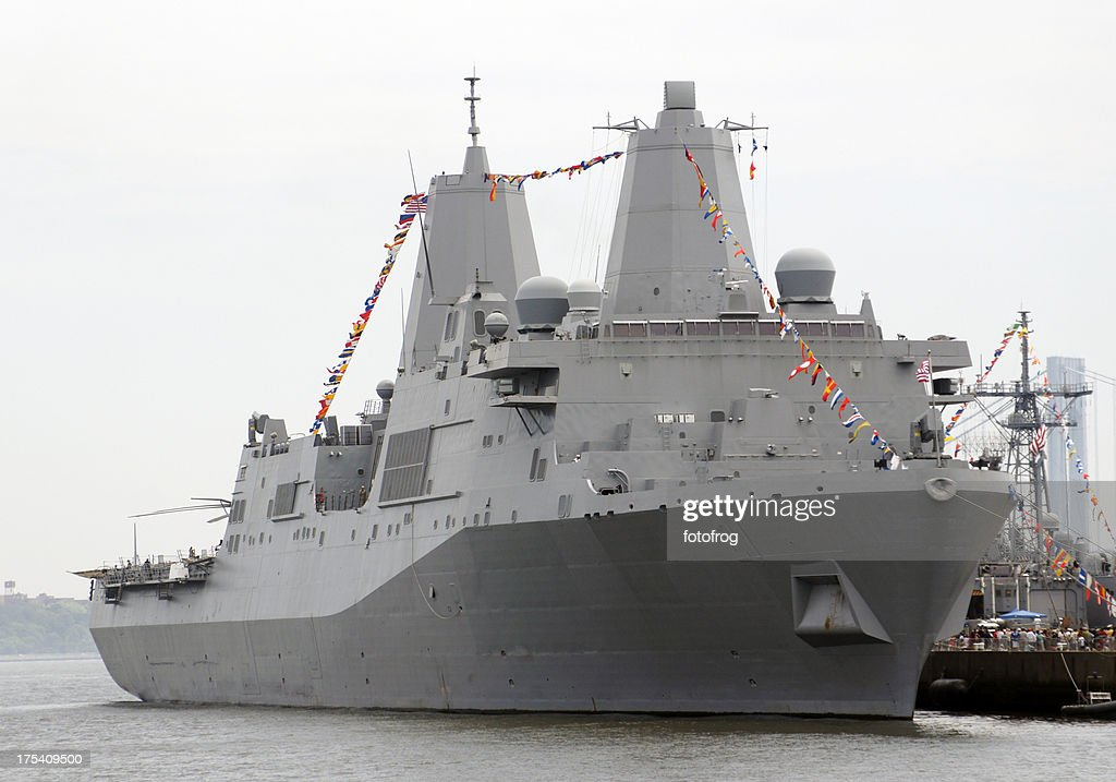 Modern warship : Stock Photo