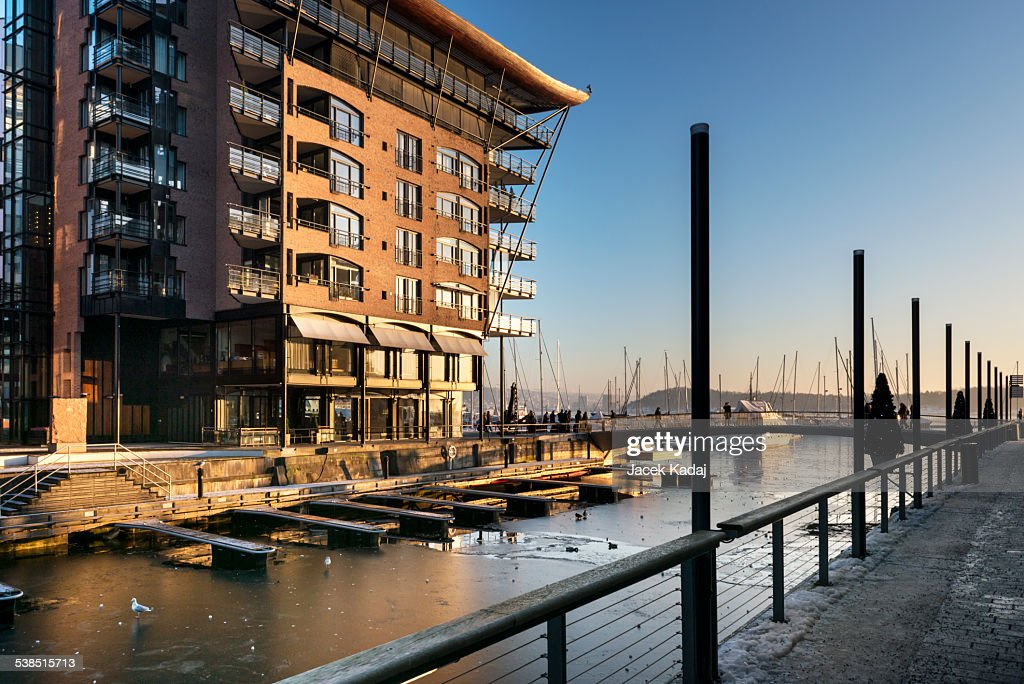 Modern Waterfront Apartments In Oslo : Stock Photo