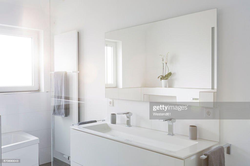 Modern white bathroom : Stock Photo