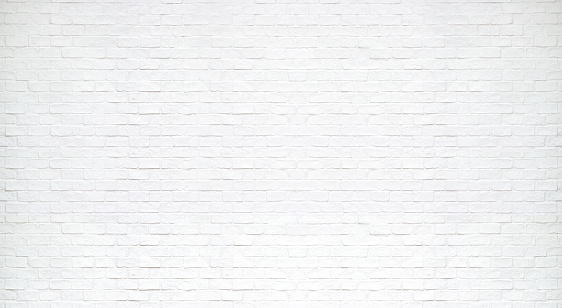 Modern white brick wall texture for background 848620248