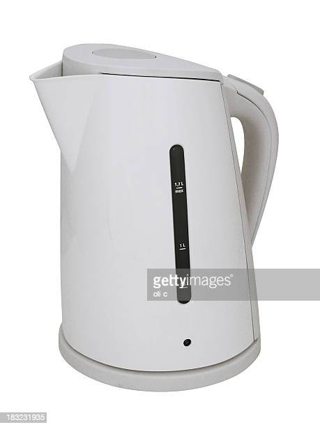 Modern White Plastic Upright Kettle
