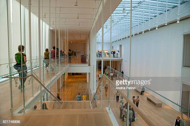modern wing at the art institute of chicago - art institute of chicago stock pictures, royalty-free photos & images