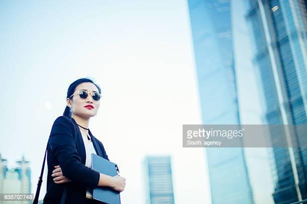 Modern woman outdoors
