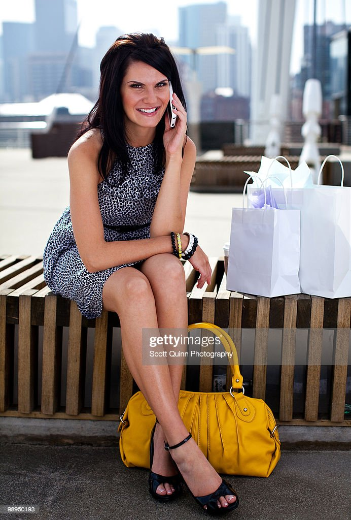 Modern Woman Shopping. : Stock Photo