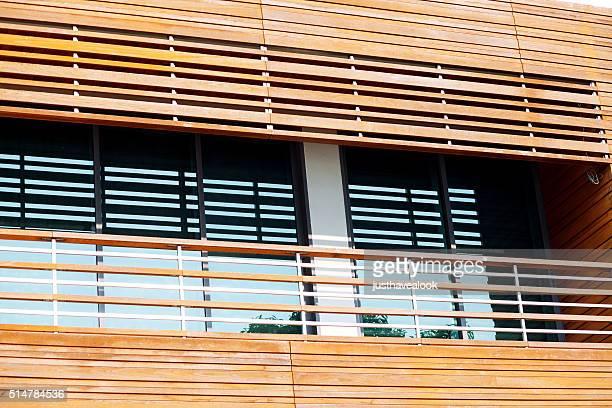 Moderne Holz-Fassade – Detailabbildung