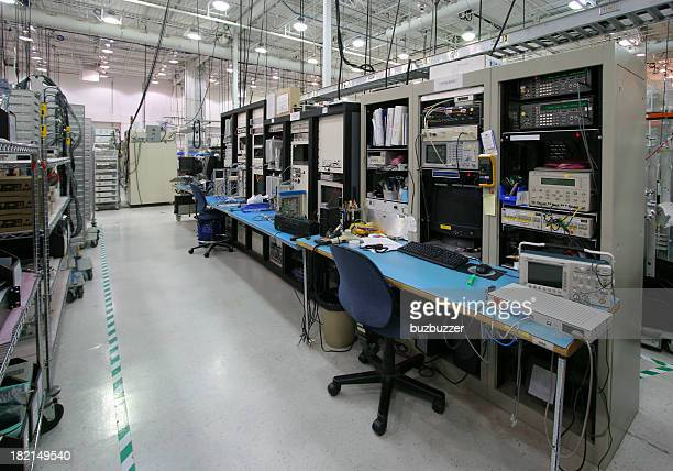 Modern Workstation inside an Industrial Building