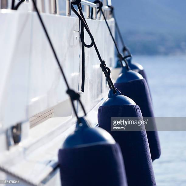 modern yacht fenders - bumper stock pictures, royalty-free photos & images
