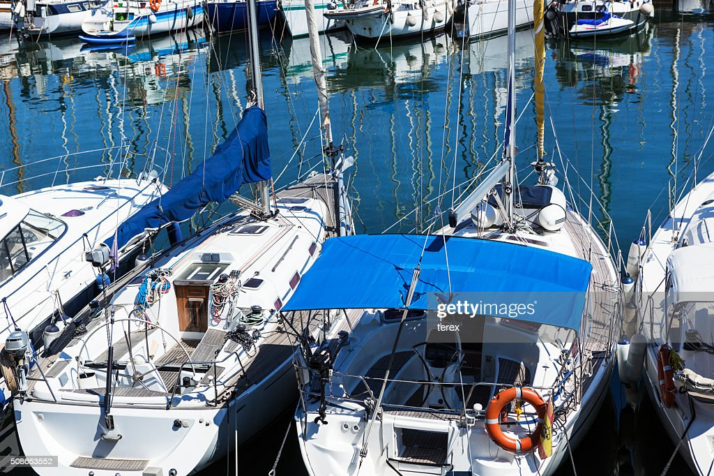 modern yachts : Stock Photo