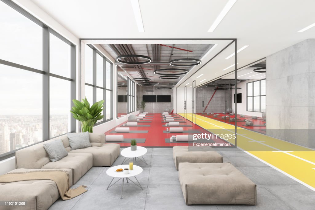 Modern Yoga Studio Lobby Interior High Res Stock Photo Getty Images