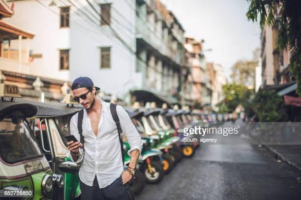 Modern young tourist