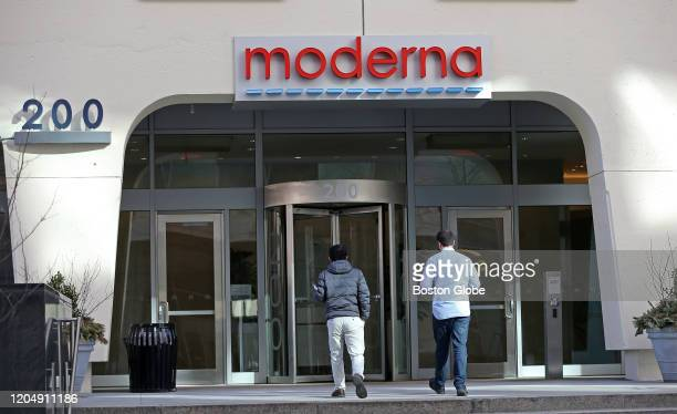 Moderna in Cambridge MA is pictured on Feb 28 2020 Moderna has developed the first experimental coronavirus medicine but an approved treatment is...
