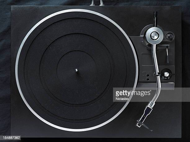 A modern-looking black record player