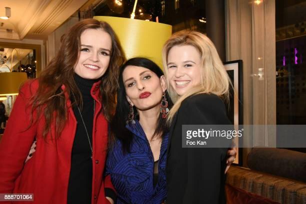 Modes Elisabeth Oros Sylvie Ortega Munos and Julie Jardon attend Ken Okada Fashion Show at Hotel W on December 8 2017 in Paris France