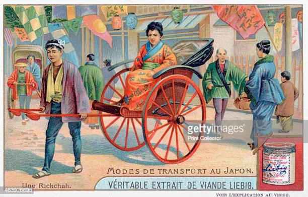 Modes of transport in Japan rickshaw 19th century French advertising for Liebig Extract of Meat Private Collection