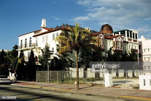 Modeschöpfer Italien seitliche Ansicht vom Wohnhaus in MiamiBeach vor dem Versace ermordet wurde 1997