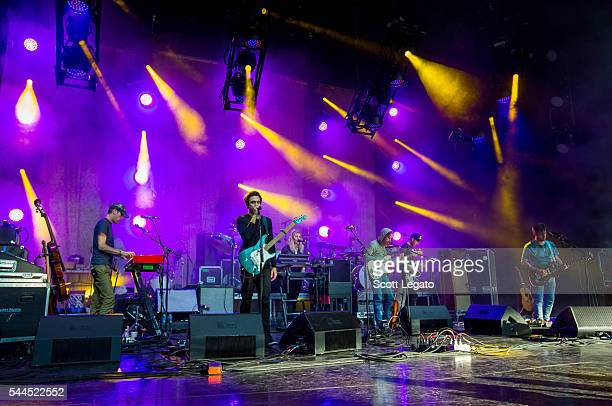 Modest Mouse performs at DTE Energy Music Theater on July 3 2016 in Clarkston Michigan