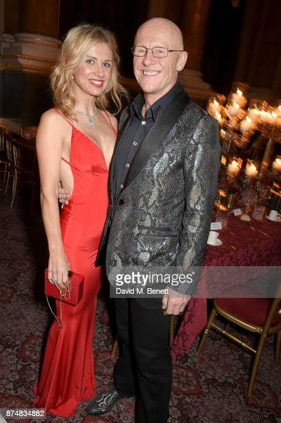 Modesta Vzesniauskaite and John Caudwell attend the Leopard Awards in Aid of the Prince's Trust at Goldsmith's Hall on November 15 2017 in London...